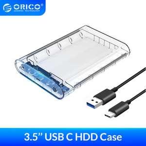 Кейс ORICO для дисков 3,5 с актив. питанием( USB3.1 SATA к Type-C )