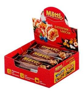 Злаковый батончик Matti Фундук и темный шоколад. 6 штук.