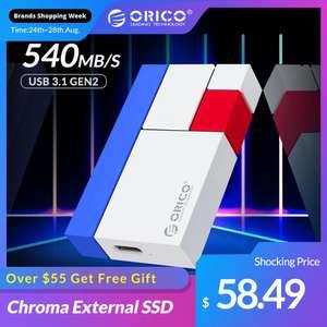 Внешний SSD накопитель Orico (USB 3.1 Gen3 540МБ/с)