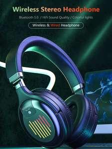 Bluetooth наушники TM-061 с RGB подсветкой за 14.99$