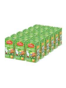 Сады Придонья сок яблочно-персиковый с мякотью восстановленный LEAF 0,125л (18шт)