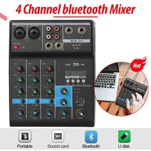 Bluetooth аудио микшер JIY F-4A