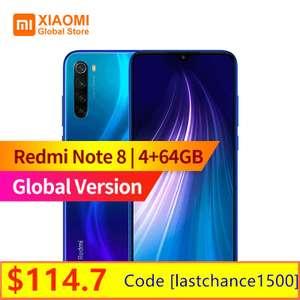 Смартфон Xiaomi Redmi Note 8 глобальная версия 4+64GB