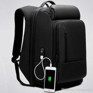 """Рюкзак для ноутбука 17"""" из искусственной кожи"""
