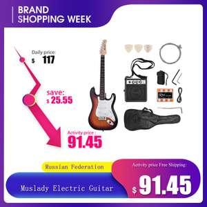 Электрическая гитара из массива дерева 21 лада 6 струн