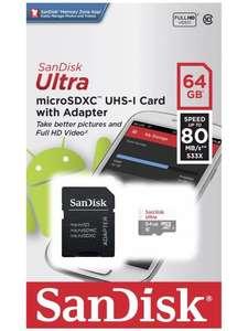 Карта памяти Sandisk Ultra, 64Gb, microSDXC