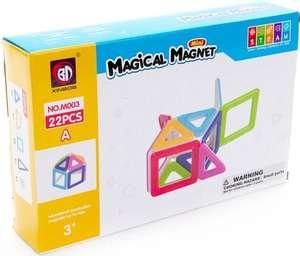 Магнитный конструктор детский 22 детали Развивающий магнитный конструктор для детей