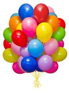 Набор воздушных шаров Мосшар ассорти - 100шт 25см