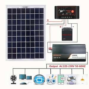 Солнечная панель + контроллер + инвертор