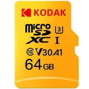 Карта памяти KODAK Micro SD TF 64 ГБ