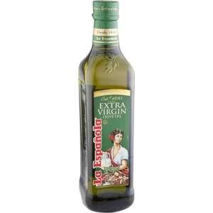 Масло оливковое La Espanola Extra Virgin, стеклянная бутылка, 0.5 л, Испания