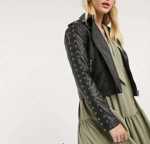 Кожаная женская куртка Lab (размеры XS - XL)