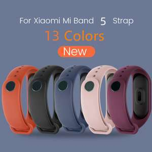 Силиконовый ремешок для Xiaomi Mi Band 5