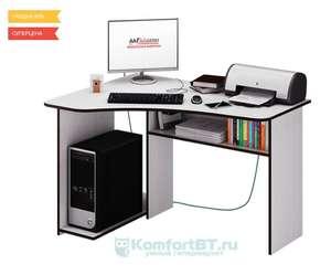 Компьютерный стол Мастер Триан-1 белый