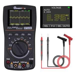MUSTOOL MT8208 Осциллограф мультиметр 2 в 1 с 2,4-дюймовым цветным экраном 1 МГц Пропускная способность