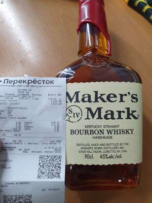 [Возможно не везде] Бурбон Makers mark, 0,7 л.