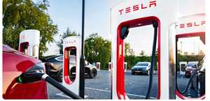 Зарядка экотранспорта на станциях Tesla Supercharger бесплатно в Европе