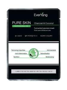 "Премиум-маска ""PURE SKIN Charcoal & Fermented premium mask"" EverYang"