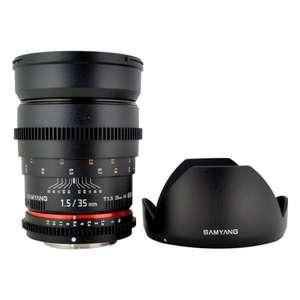 Подборка объективов (напр. Samyang MF 35mm T1.5 ED AS UMC VDSLR Nikon F)