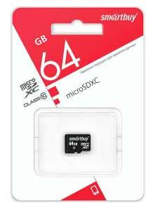 Карта памяти Smartbuy micro SDXC Class10 UHS-1 64GB, без адаптера