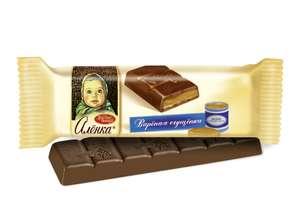 Батончик шоколадный «Аленка» с начинкой вареная сгущенка, 45 г