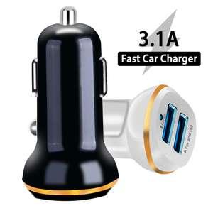 Автомобильное зарядное Lieve с двумя портами за US $1.29