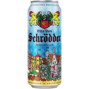 Пиво Schroedder Hefeweizen светлое нефильтрованное, 0.5л, Германия