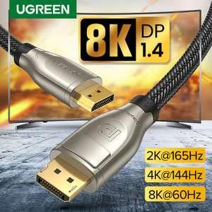 Кабель Ugreen display port 1,4 кабель 8K 60Hz, 3 метра