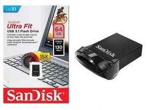 USB Флеш-накопитель SanDisk Ultra Fit 64 ГБ, черный