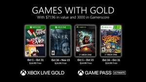 Бесплатные игры октября для подписчиков Xbox Live Gold / Game Pass Ultimate