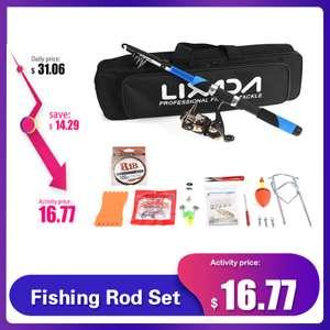 Комплект рыбака Lexada (удочка 2,1м, сумка, блесна и прочее)