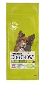 Корм сухой Dog Chow Adult, для взрослых собак, с ягненком, 14 кг