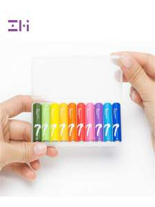 Батарейки Xiaomi ZMI ZI5 Rainbow, 10 шт, AA или ZI7, 10 шт, AAA