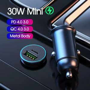 YKZ автомобильное зарядное устройство с поддержкой QC3/PD3