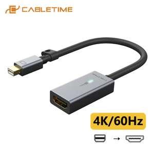 Кабель адаптер DP/HDMI 4K/60Hz Thunderbolt 2