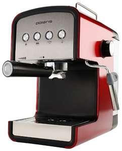 Кофеварка рожковая Polaris PCM 1516E Adore Crema красный/серебристый