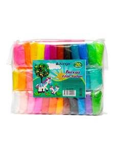 Пластилин легкий воздушный, 36 цветов + стеки, Alingar