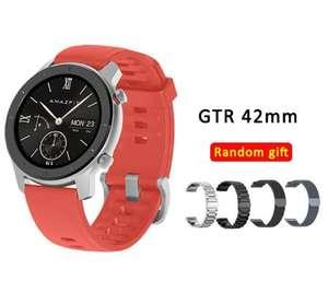 Смарт часы AMAZFIT GTR 42 мм + металлический ремешок в подарок