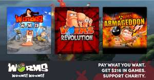 [PC] Humble Worms! Worms! Worms! Bundle (Steam) от 70 руб.