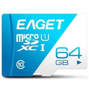 Карта памяти Eaget на 64 GB за 6,99$