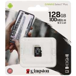 Карта памяти Kingston Canvas Select Plus microSDHC 128 ГБ [SDCS2/128GBSP]