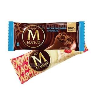 [Кдр. край] Мороженое Магнат (1+1) шоколадный трюфель / манго и красные ягоды, без змж, эскимо, 74 г