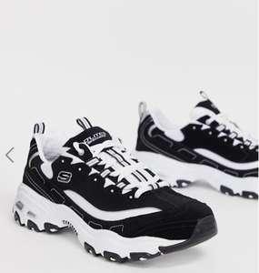 Мужские черно-белые кроссовки на массивной подошве Skechers D'lites