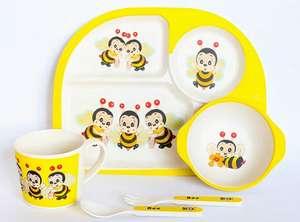 Набор детской посуды в подарочной коробке ecotoys 5 предметов