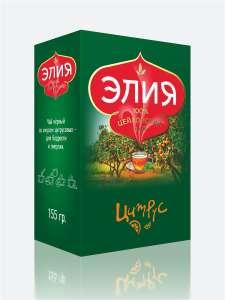 Чай черный с фруктовой добавкой Цитрус цейлонский Элия 155 г