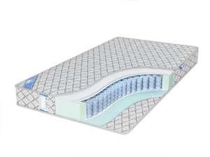 Скидка на матрасы (например матрас Промтекс-Ориент EcoSoft Стандарт Струтто, независимые пружины, 180х200 см + подушка в подарок)