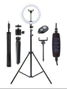 Кольцевая LED лампа 26см с двумя штативами и селфи-пультом KingRing