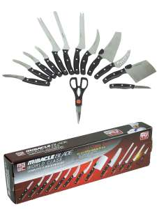 Набор кухонных ножей 12 шт + ножницы