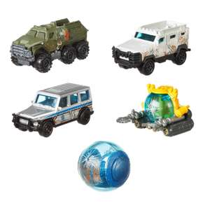Набор машин Matchbox Jurassic World Боевые раны 5шт