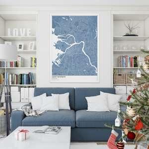 Скидка на интерьерные настенные карты в MAPNY